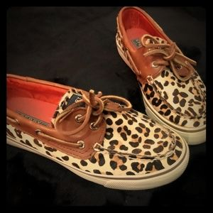 Cheetah print worn once sperry